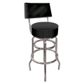 Where to rent BAR STOOL BLK W BACK in Denver NC