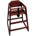 Where to rent HIGH CHAIR MAHOGANY in Denver NC