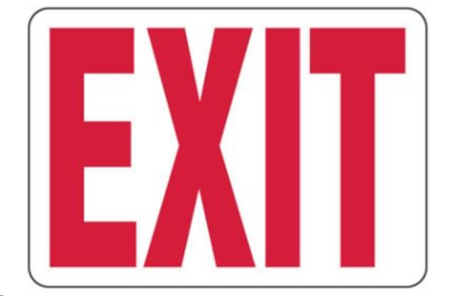 Where to find EXIT SIGNS in Denver
