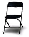 Where to rent CHAIR BLACK FOLDING in Denver NC