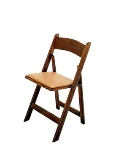 Rental store for CHAIR FRUITWOOD FOLDING W  TAN PAD in Denver NC