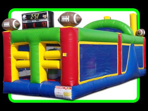 Where to find INFLATABLE 30FT 2 LN FOOTBALL OBSTACLE in Denver