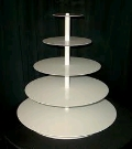 Where to rent CUPCAKE STAND 5TIER WHITE in Denver NC