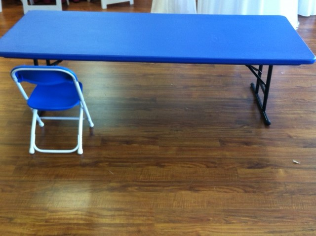 Where to find KIDS TABLE BLUE 6 X 30 ADJUSTABLE in Denver