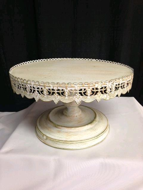 Where to find CAKE STAND 16  RD ANTIQUE WHITE in Denver