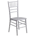 Where to rent CHAIR CHIAVARI SILVER RESIN in Denver NC
