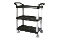 Where to rent SERVING CART 3TIER BLACK in Denver NC