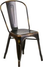 Where to find CHAIR DISTRESSED COPPER METAL STACKABLE in Denver