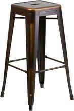 Where to find BAR STOOL DISTRESSED COPPER METAL 30 in Denver