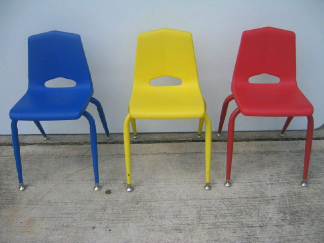 Where to find KIDS MULTI COLOR STACKABLE CHAIR in Denver