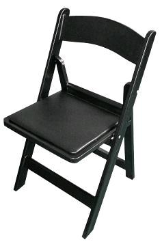 Where to find CHAIR BLACK PADDED RESIN in Denver