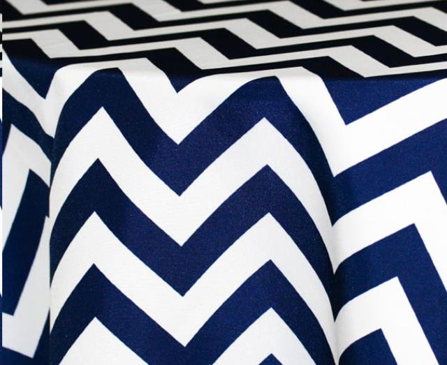 Where to find NAVY CHEVRON LINENS in Denver