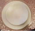 Where to rent HEIRLOOM BLUSH DINNER PLATE in Denver NC