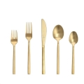Where to rent BRUSHED GOLD FLATWARE in Denver NC
