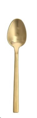 Where to rent BRUSHED GOLD DINNER SPOON in Denver NC