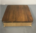 Where to rent CAKE STAND 15  WOOD   GOLD SQUARE in Denver NC