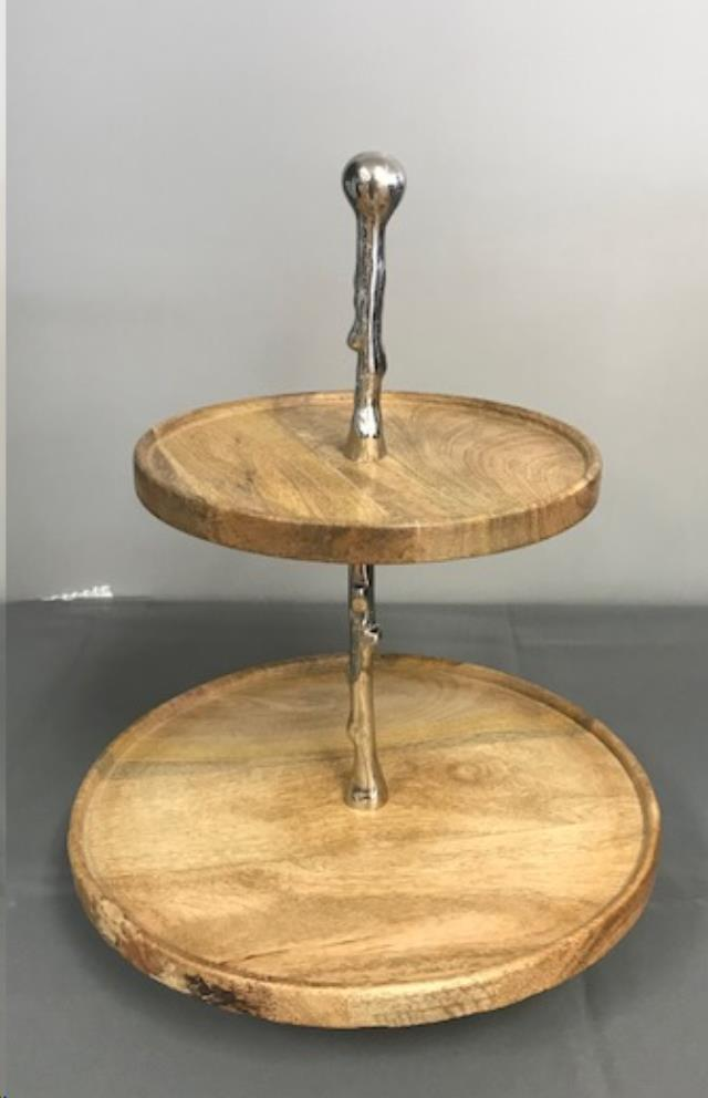 Where to find 2 TIER WOODEN SERVER ROUND in Denver