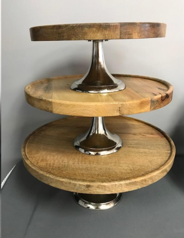 Where to find CAKE STAND 12  WOOD PEDESTAL in Denver