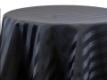 Rental store for BLACK SATIN STRIPE LINENS in Denver NC