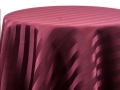 Rental store for BURGUNDY SATIN STRIPE LINENS in Denver NC