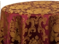 Rental store for BURGUNDY GOLD BEETHOVEN LINENS in Denver NC