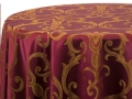Rental store for BURGUNDY GOLD CHOPIN LINENS in Denver NC