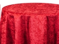 Rental store for CRUSHED VELOUR RED LINENS in Denver NC