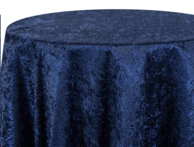 Where to find CRUSHED VELOUR NAVY LINENS in Denver