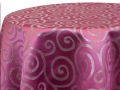 Rental store for METALLIC SCROLL PINK SILVER LINENS in Denver NC