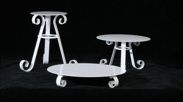 Where to find CAKE STAND 12  TALL WHITE in Denver