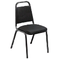 Where to rent CHAIR BLACK PADDED STACKABLE in Denver NC